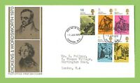 G.B. 1970 Literary Anniversary set on Post office First Day Cover, London