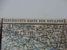 Ravenstein - Übersichtskarte Ostalpen - D. u. Ö. Alpenverein - 1901