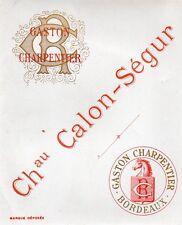 SAINT ESTEPHE 3E GCC VIEILLE LITHOGRAPHIE CHATEAU CALON SEGUR 1880/90 §25/09/16§