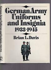 German Army Uniforms and Insiginia 1933-1945, Brian Davis, 1972 1st edition w/DJ