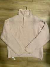 SKIMS Cozy Knit Pullover in Dusk color