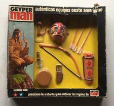 VINTAGE HASBRO GEYPER MAN 7512 (ACTION MAN) GUERRERO INDIO~INDIAN ACCESSORY SET