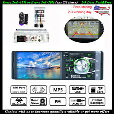 4.1'' Single 1DIN Car Stereo MP5 MP3 Player Wireless FM Radio USB TF AUX IN