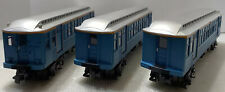 E110 MTH Rail King O NY Transit Blue 3-Car Subway Set ProtoSound 2.0: 30-2760-1