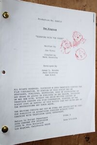 THE SIMPSONS RARE  TV SERIES SHOW SCRIPT EPISODE SLEEPING WITH THE ENEMY