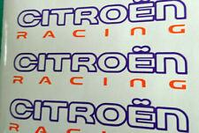 3 Large CITROEN RACING 2 Colour Vinyl Stickers DS3 DS4 Motorsport Rally Graphics
