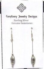 Earrings #2837.No Stone.Handmade Usa Sterling Silver Petite Dangle