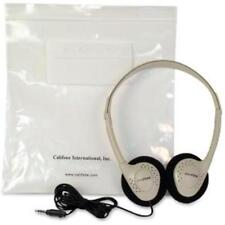 Ergoguys Lightweight Stereo Heahphones Wired Beige Color - Wired Connectivity -