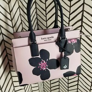 NWT Kate spade Cameron Medium Satchel Grand Flora Serendipity Pink Floral Blue