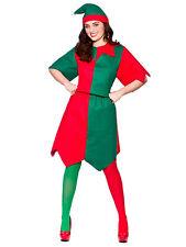 Adult Ladies Santas Little Helper Christmas Xmas Elf Fancy Dress Costume 22-24