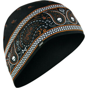 Zan Headgear SportFlex Beanie (Bandanna - Black / Orange)