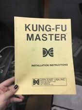 Data East KUNG-FU MASTER Arcade Video Game Manual - good used original