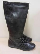 Rasolli Women's Faux Leather Riding Boot BLACK sz 9 NEW! VEGAN