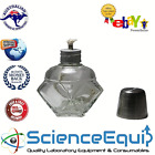 Spirit Burner Lamp 125ml HEXAGONAL GLASS Alcohol Burner, LABORATORY CHEMISTRY