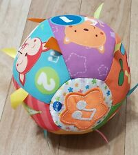 "VTech Baby Lil' Critters Roll & Discover Ball 7.1"" Plush Musical/TaggiesWashable"