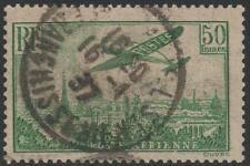 "FRANCE AERIEN N° 14 a "" AVION SURVOLANT PARIS 50F VERT "" OBLITERE TTB  J753"