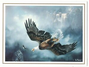 BALD EAGLE TED BLAYLOCK ART Leanin' Tree Christmas Greeting Card Envelope MG3