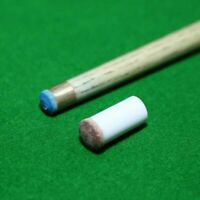 XLX 15 Set 13mm Brown Tip Set Billiard Cue Pure White Ferrules with Super Cue Screw-on Replaceable Tips 30pcs