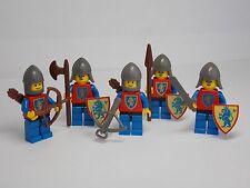 Vintage Castle LEGO - Lion Knight Minifig Lot w/ Shields & Accessories