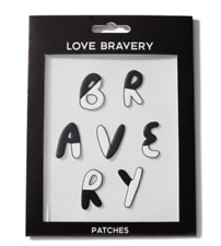 "Love Bravery Lady Gaga Elton John Re-Stickable Plushie Patch Stickers -""Bravery"""