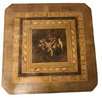 Antique 19th Century Italian Inlaid Walnut Tilt-top Game Puzzle Side Table