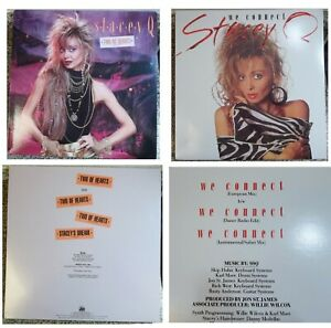 2 STACEY Q 12 Inch Vinyl Freestyle Records - Two of Hearts / We Connect - VG+