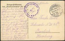 """Deutsche Feldpostkarte """"Kladdaradatsch Nr.18"""" Landwehr-Infanterie-Rgt. 99"""