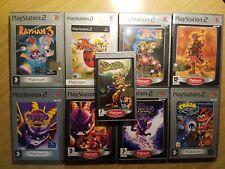 Bundle 8 Giochi PlayStation 2 PS2 Crash Bandicoot, Spyro, Jak and Daxter, Rayman
