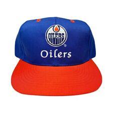 Vtg Rare NHL Edmonton Oilers CCM Snapback Hat Cap. Adjustable
