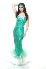 Womens Emerald Mermaid Halloween Costume size Small 5-7
