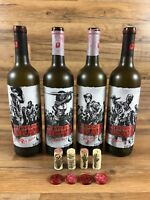 The Walking Dead Wine Bottle 2016 Complete Set Rick Grimes Michonne Glenn Zombie
