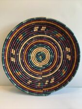 Vintage Southwestern Handwoven Native American Coiled Basket Bowl Wall Decor 13�