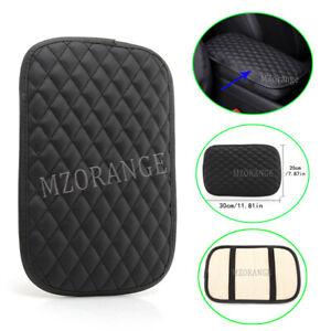 1x Universal Car Armrest Cushion Cover Center Console Protector Black Trim pad