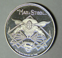 Superman The Man of Steel .999 Fine Silver 1 oz 1982 AMC Cartoon Celebrities