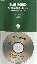 BLUE RODEO No Miracle No Dazzle RARE REMIX EDIT USA PROMO Radio DJ CD Single 97