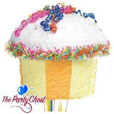 CUPCAKE PULL STRING PINATA Birthday Cake Party Game Birthday Fun Decoration