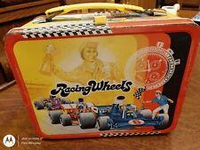 Vintage 1977 Racing Wheels Metal Lunch Box