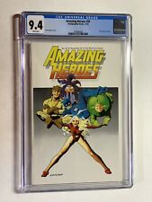 Amazing Heroes 35 Cgc 9.4 White Pages Fantagraphics 1st Black Costume Spider-man