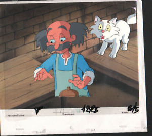 GOLDEN FILMS OG PINOCCHIO HAND PAINTED CEL & DRAWING ANIMATION PRODUCTION ART
