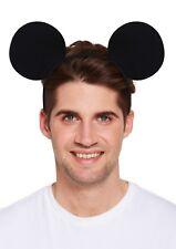 Serre-tête deguisement SOURIS mouse noir oreilles bandeau mickey adulte enfant