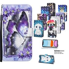 For IPHONE 7 8 XS MAX XR 11 12 PRO SE CASE Flip Leather Wallet & Tempered Films