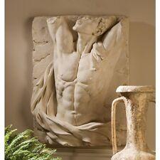 Ancient Greek Roman Male Man Naked Nude Torso Wall Sculpture Frieze Relief