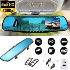 HD 2.4in LCD Screen Rearview Mirror Dash Cam Camera Video Recorder Car DVR FT