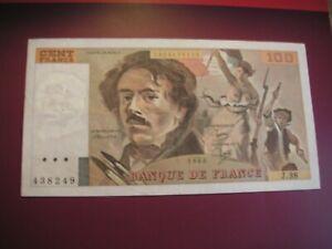 TRES BEAU BILLET DE 100 FRANCS DELACROIX 1980