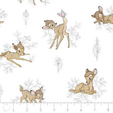 Camelot Disney Bambi Toile Dark Grey 100% cotton fabric by the yard