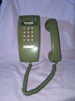 Vintage Green Wall Mount Push Button ITT Telephone System ATT Western Electric