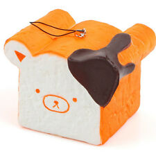 11CM Jumbo Squishy Rilakkuma Chocolate Toast Slow Rising Phone Strap Scent Bread
