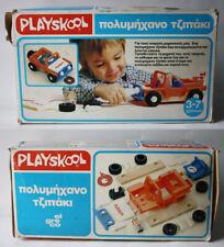 RARE VINTAGE 80'S PLAYSKOOL TAKE APART JEEP CONSTRUCTION EL GRECO NEW NOS !