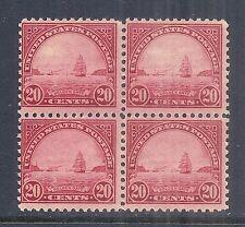 1923 US SC 567, Golden Gate - Block of 4 MNH OG Perf 11 - 20c Deep Carmine Rose