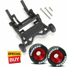 Traxxas Black Wheelie Bar/Red Alum Wheels & Rubber Tires: Stampede VXL /Bandit